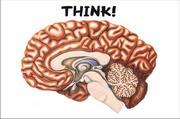 Postkarte Think